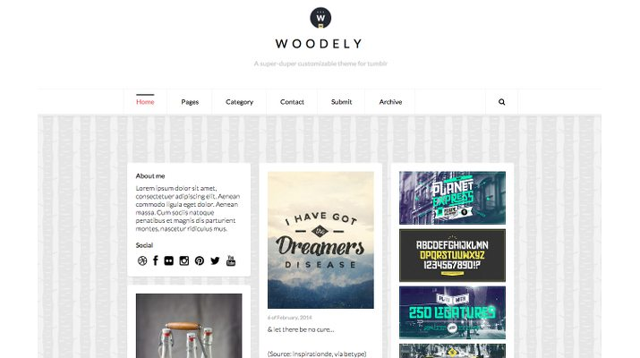 Woodely-Free-Tumblr-Theme