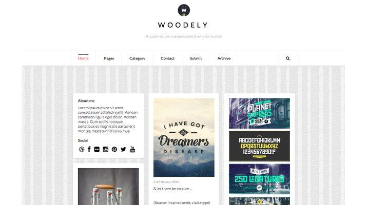 Woodely-Free-Tumblr-Theme 50+ Best Free & Premium Tumblr Themes 2018 design tips