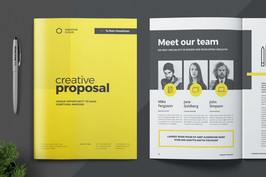 Word-Proposal-Template 40+ Best Microsoft Word Brochure Templates 2020 design tips  Inspiration|brochure|templates