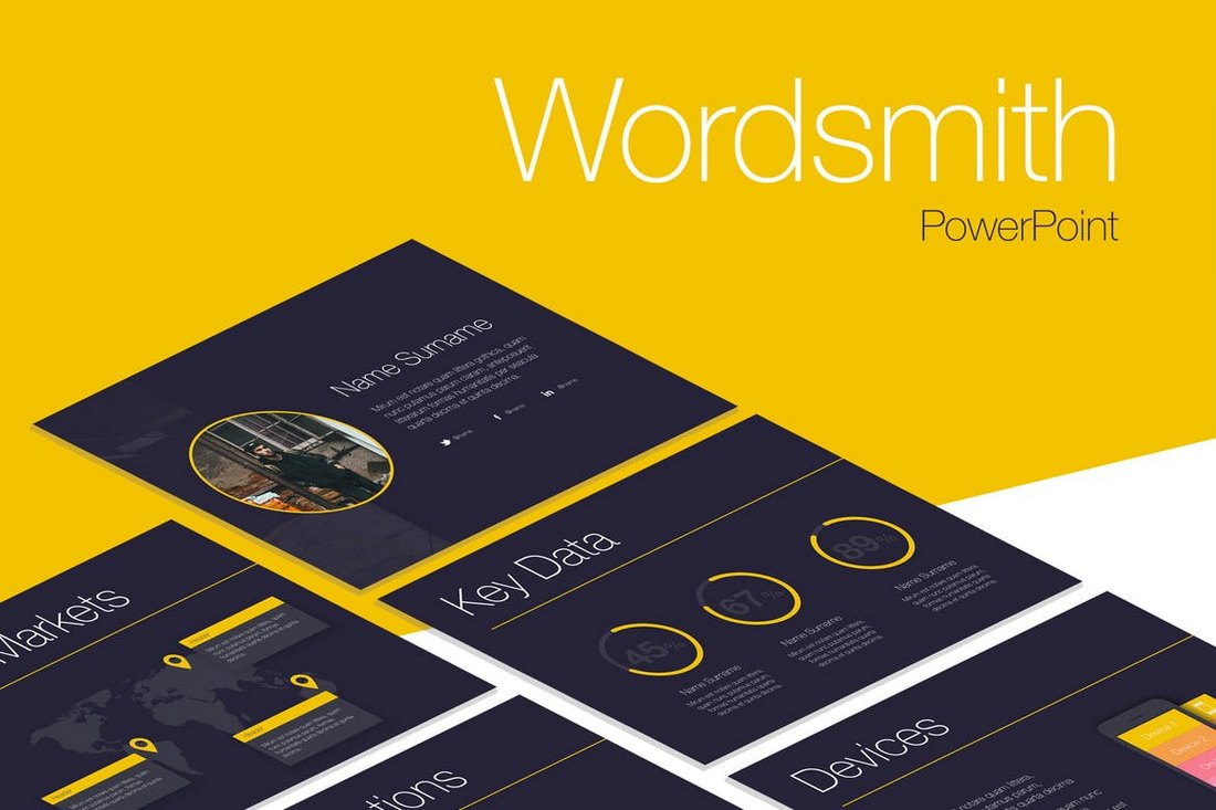 Wordsmith-Cool-Creative-PowerPoint-Template 20+ Best Cool PowerPoint Templates design tips