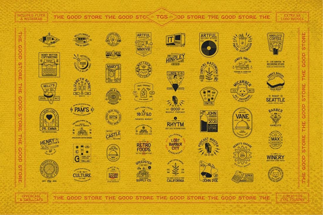 Wornout Vintage Badge Templates