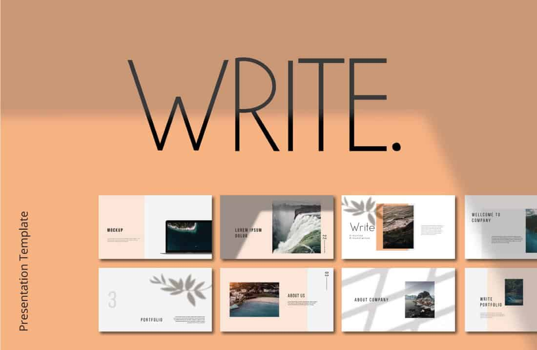 Write - Free Keynote Template