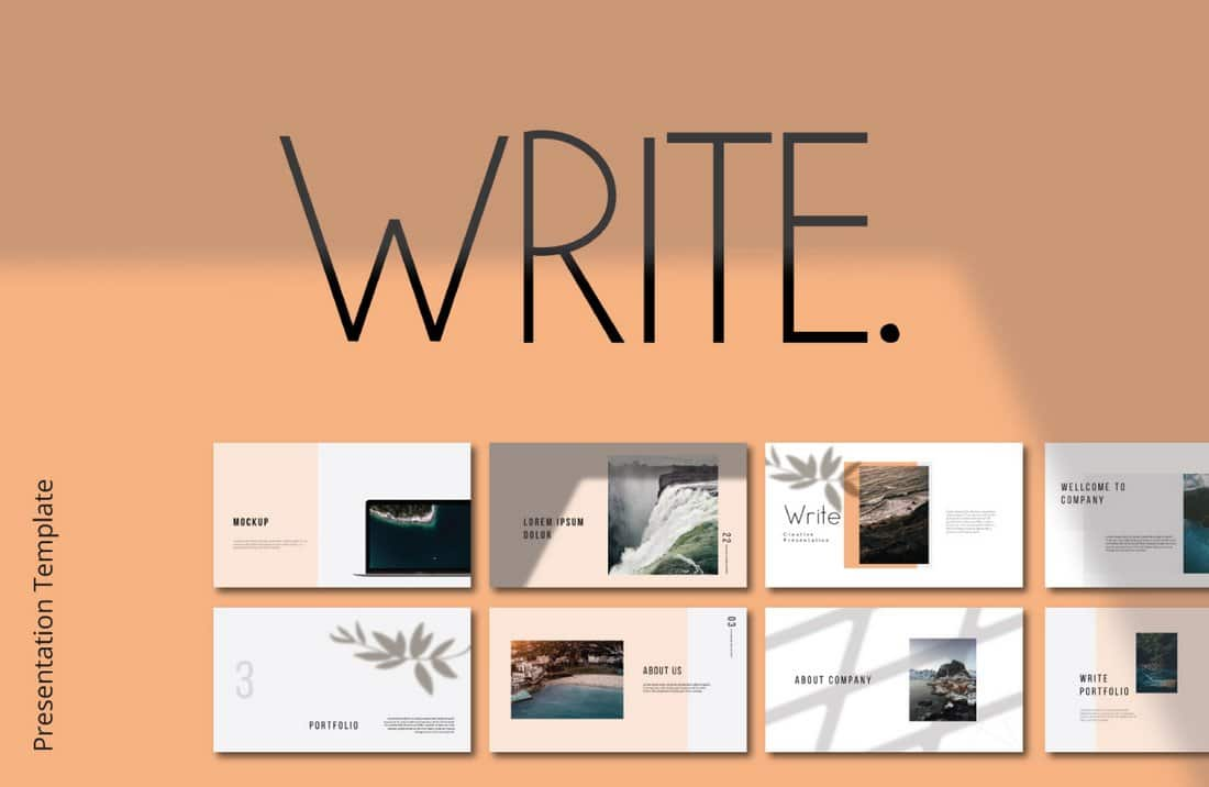 Write - Free Professional Keynote Template