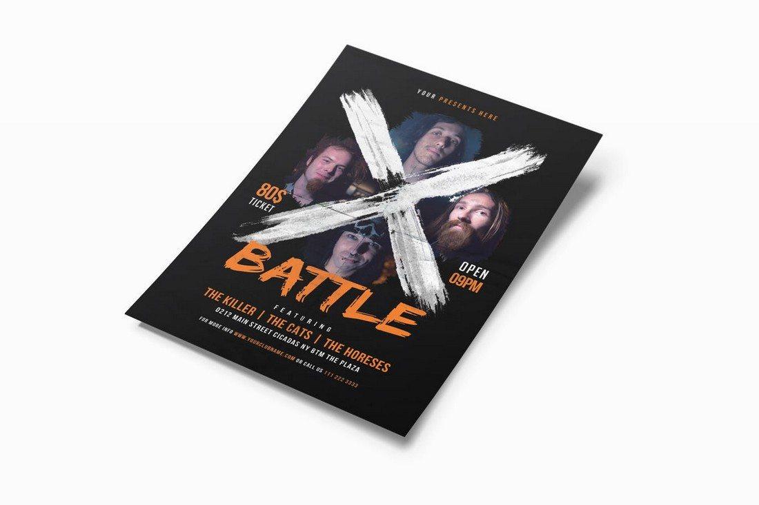 X-Battle-Music-Flyer 30+ Best Music & Band Flyer Templates design tips