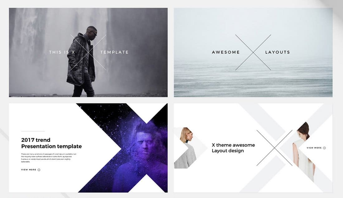 X - Free Minimal PowerPoint Template