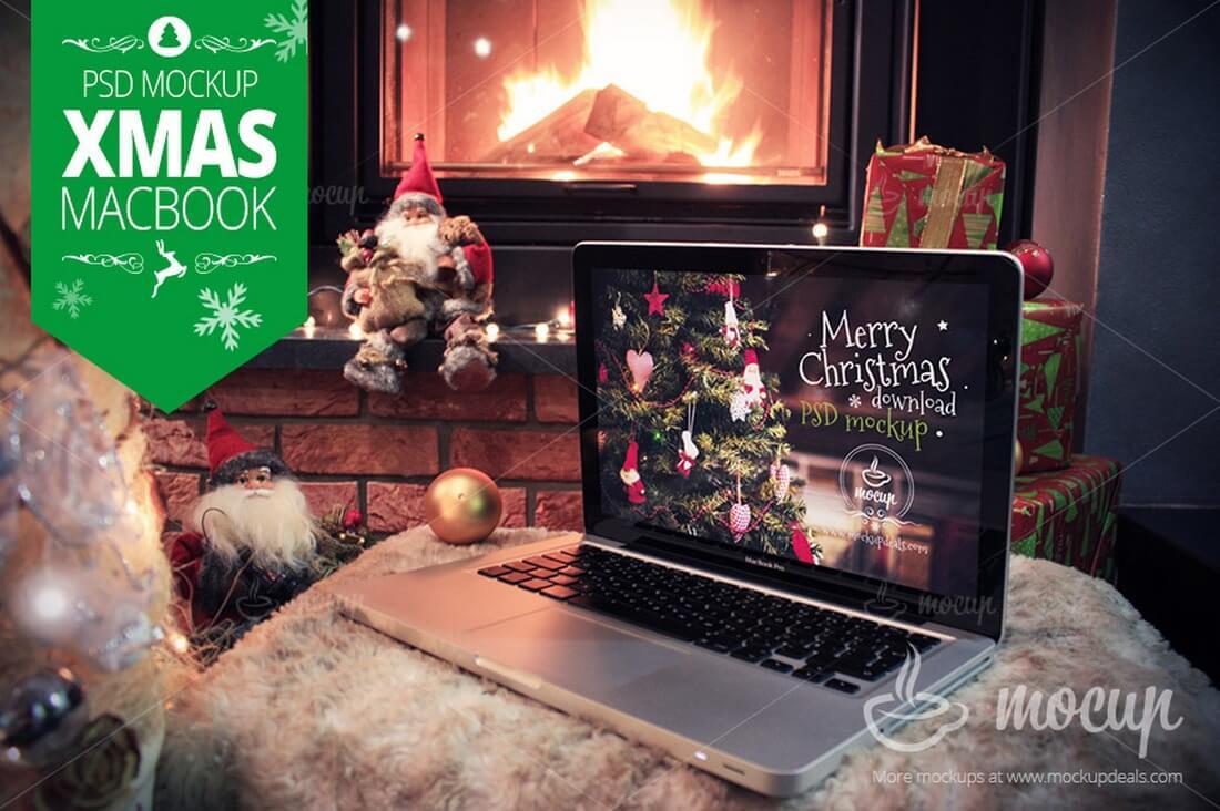 XMAS-MacBook-Pro-Mockup 100+ MacBook Mockup Templates (PSD & Vector) design tips