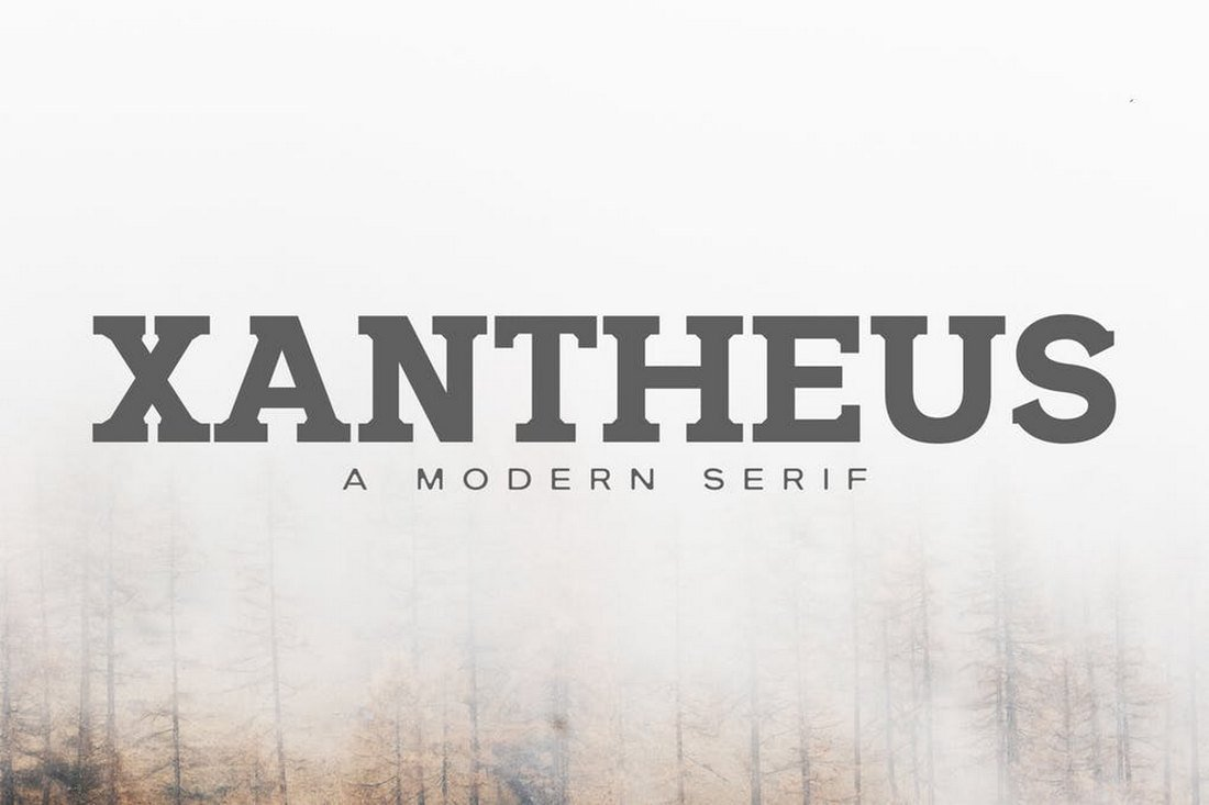Xantheus - Slab Serif Font
