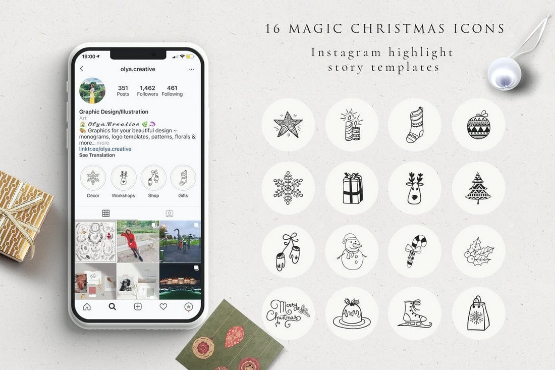 Xmas Instagram Highlight Story Icons