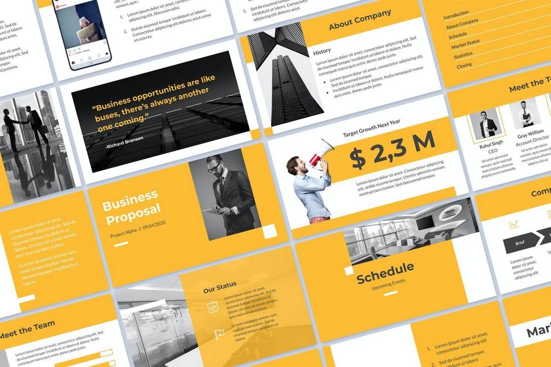 Yello Proposal PPTX & Google Slides Template