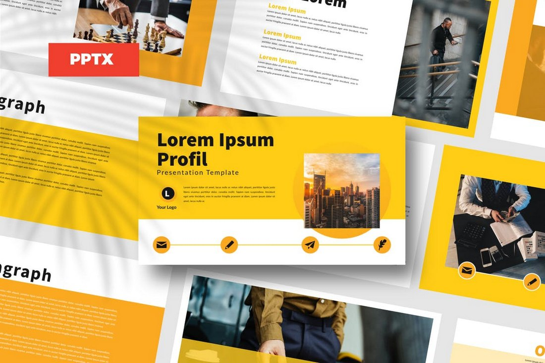 Yellow-Bussiness-Powerpoint-Template 20+ Modern Professional PowerPoint Templates design tips