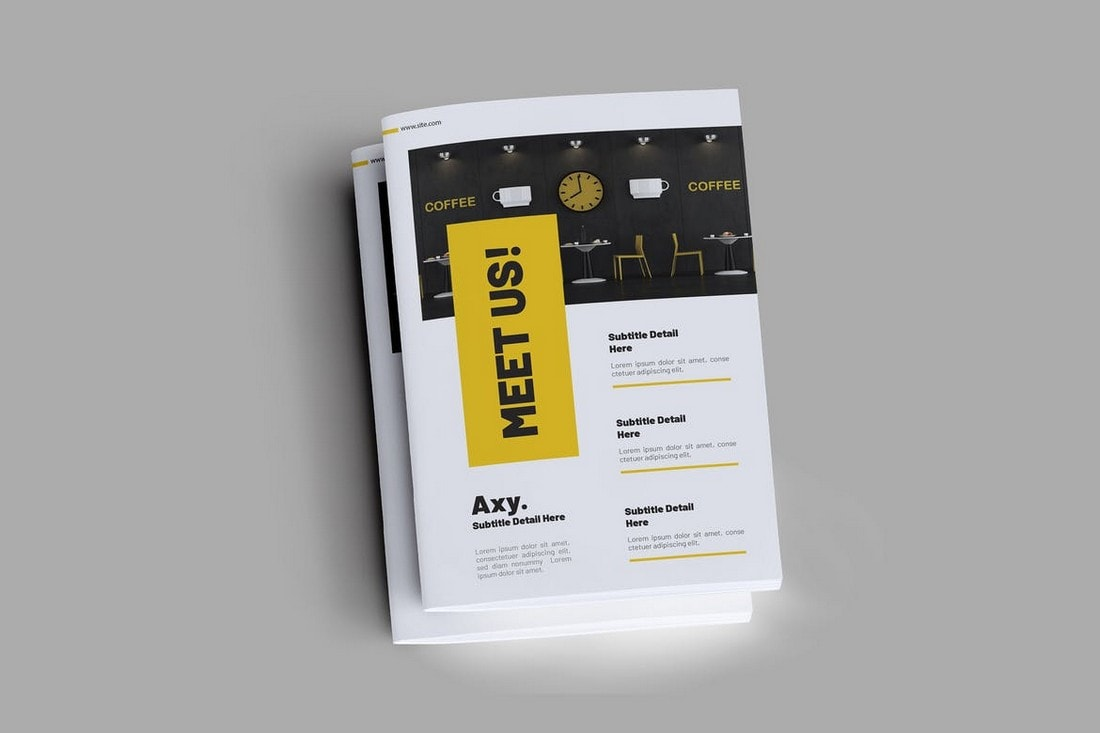 Yellow Trendy Brochure Template