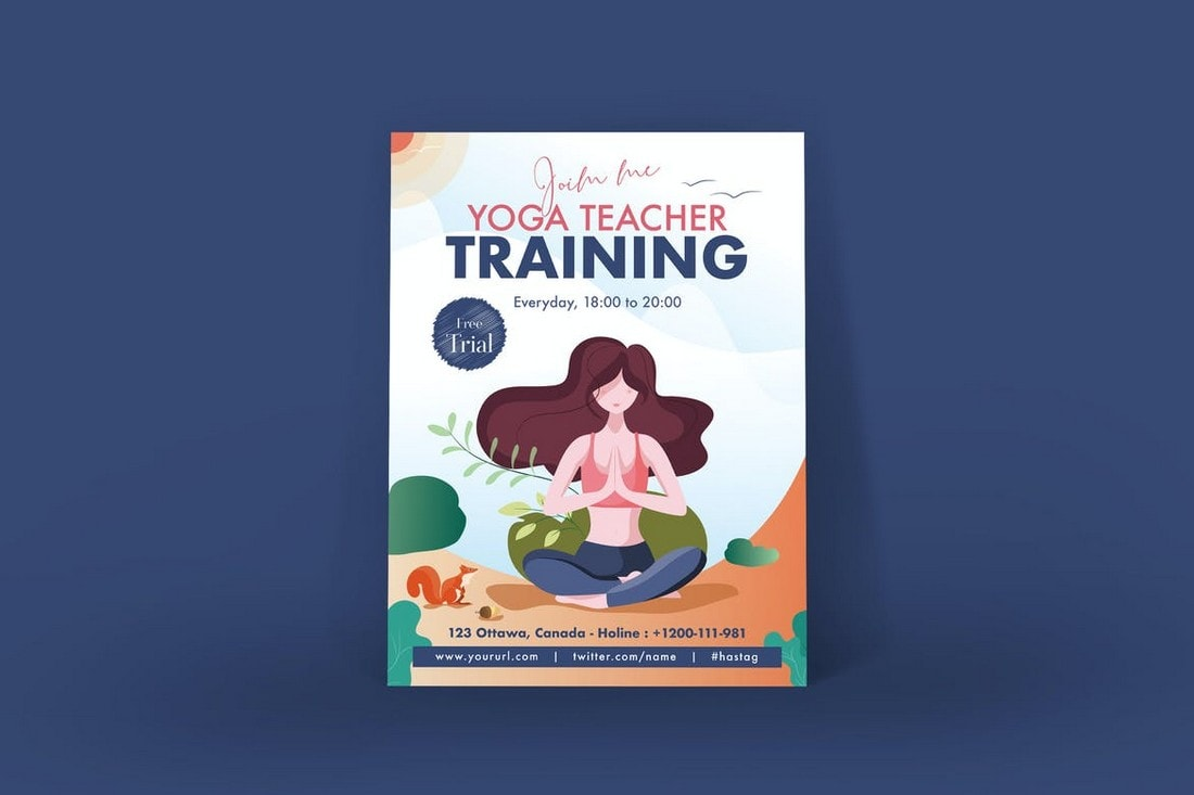 Yoga-Training-Poster-Affinity-Designer-Template 20+ Best Affinity Designer Templates & Assets 2020 design tips  Inspiration