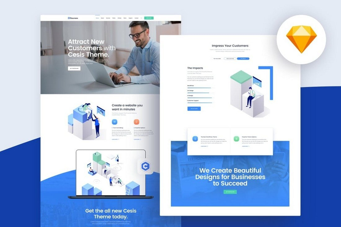 20+ Best Sketch Website Templates 2020 | Design Shack