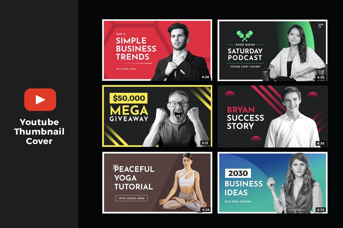 YouTube-Thumbnail-Templates-for-Business-Videos 20+ Best YouTube Thumbnail Templates in 2021 design tips