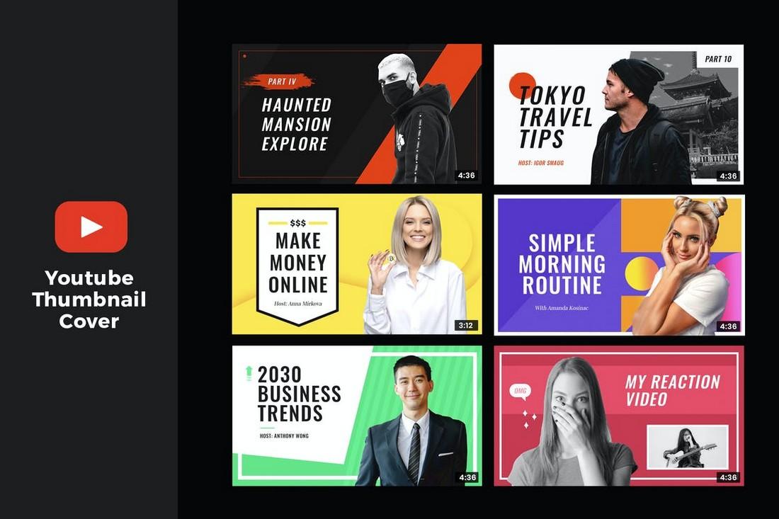 YouTube Thumbnail Templates for Lifestyle Videos