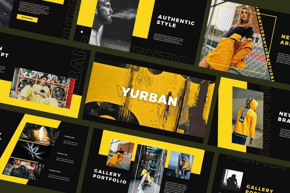 Yurban - Modern Powerpoint Template
