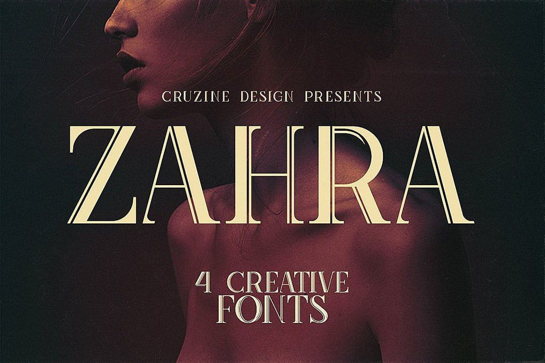Zahra-Typeface 100+ Best Modern Serif Fonts design tips