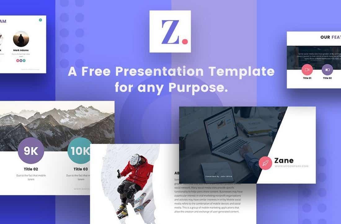 Zane - Free Keynote & PowerPoint Template
