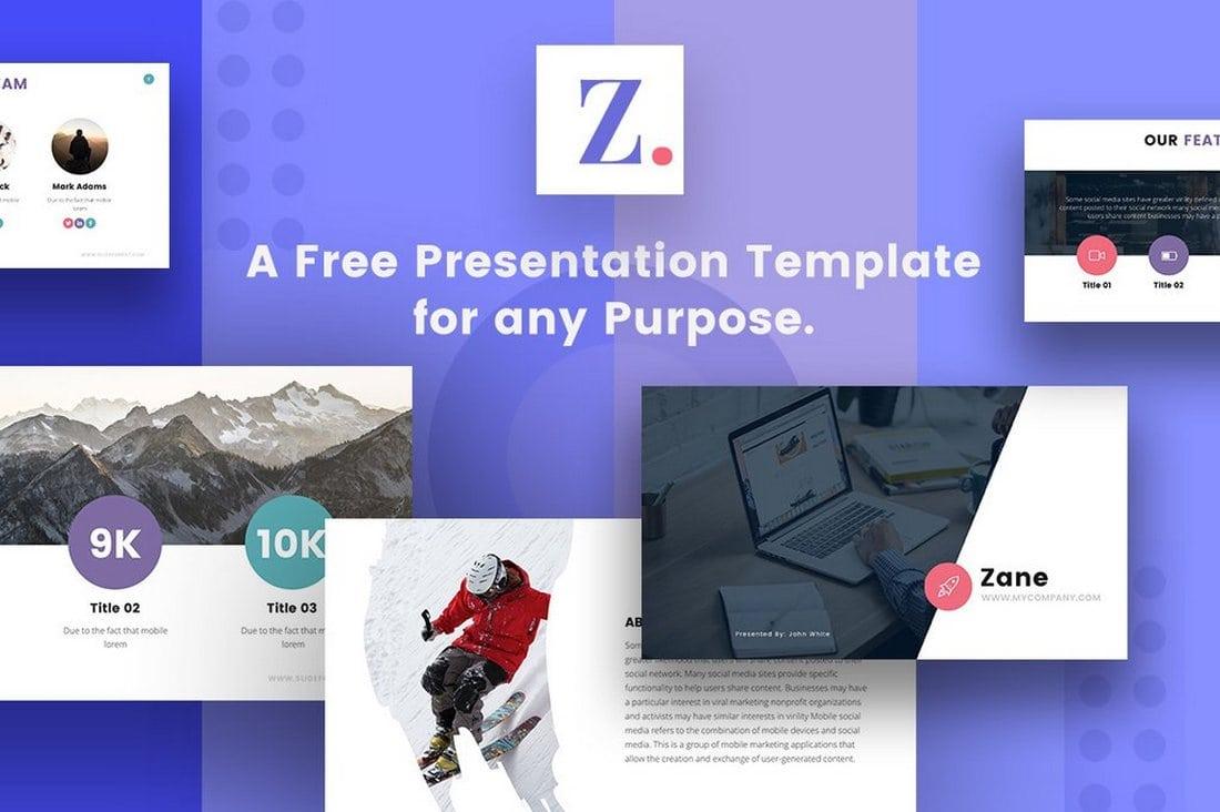 Zane Free Modern Google Slides Template