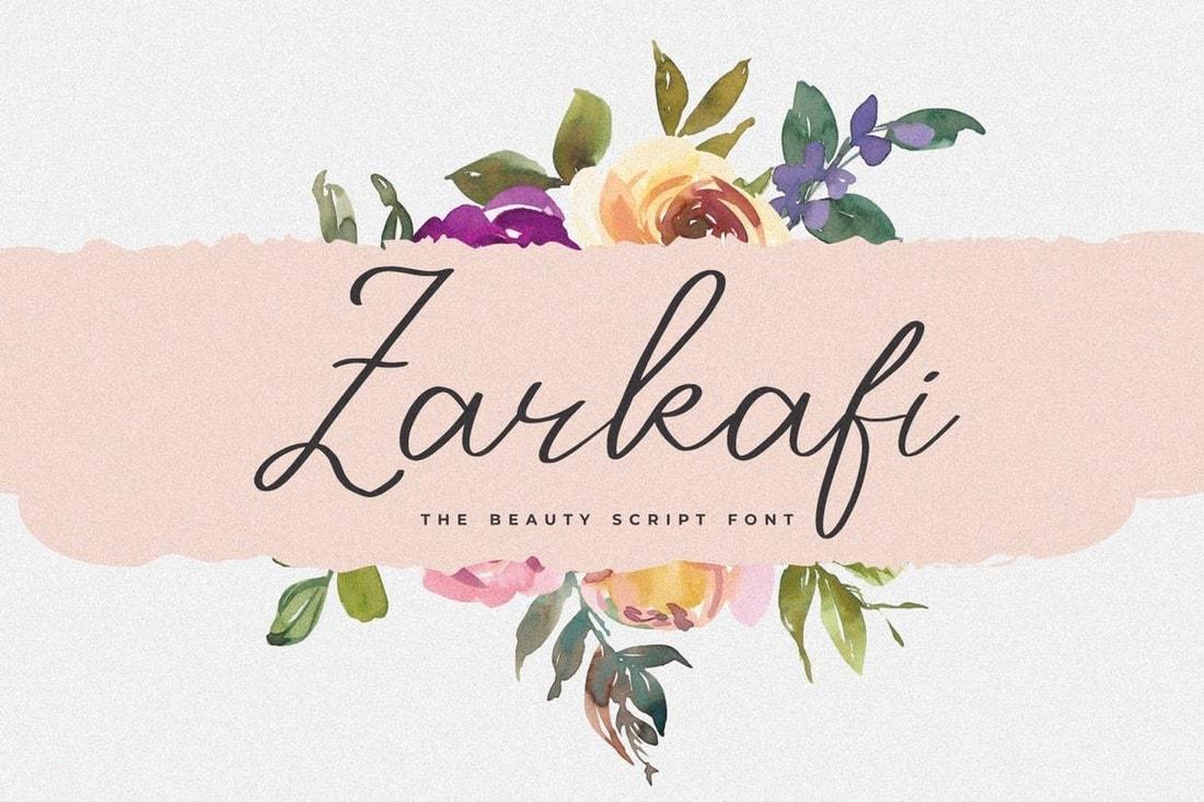 Zarkafi - Stylish Handwritten Script Font