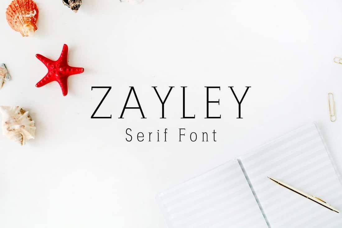 Zayley Serif Serif Font