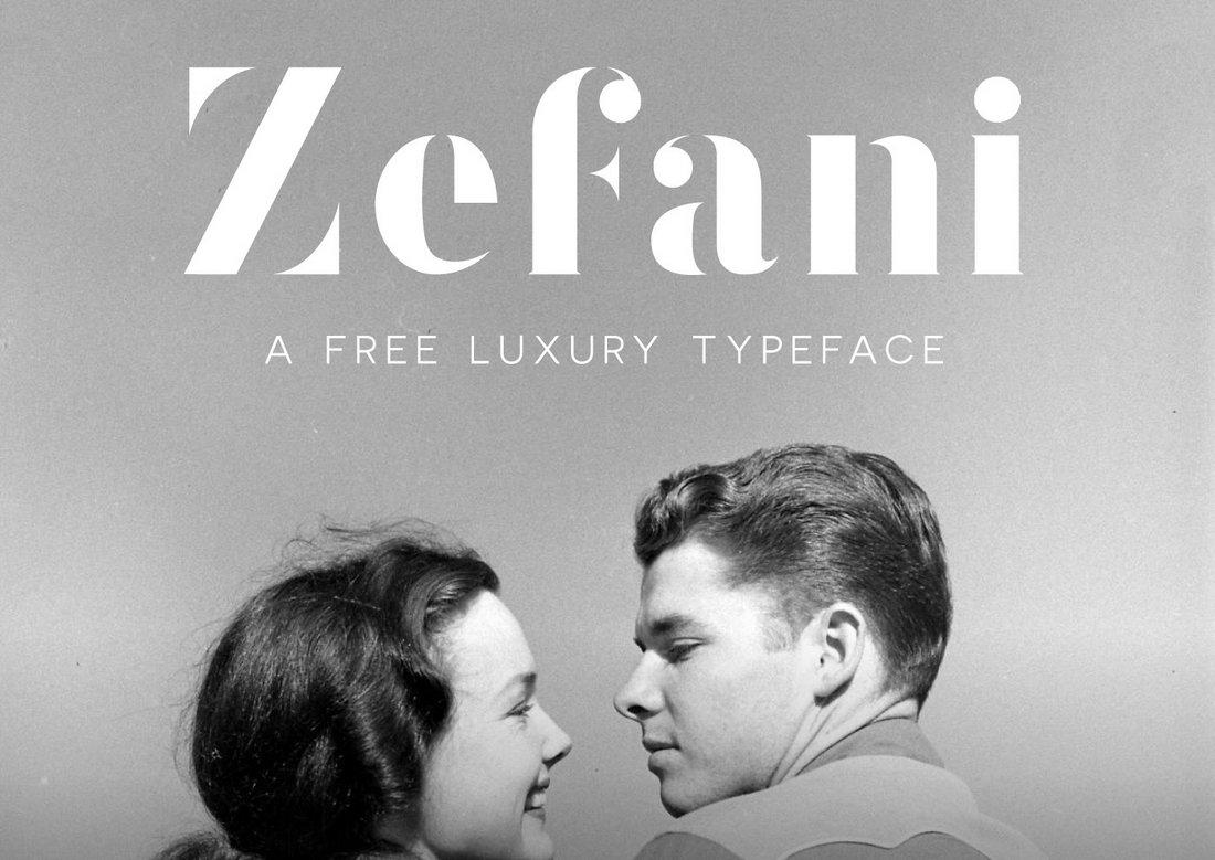 Zefani - Free Luxury Logo Font