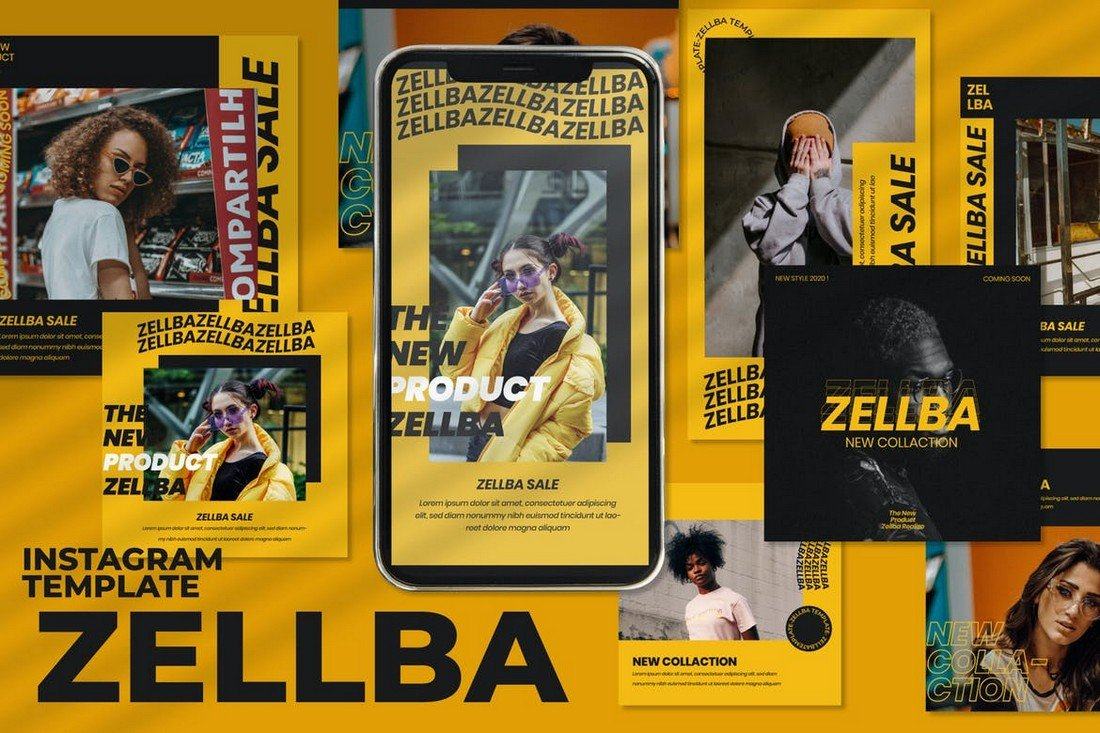 Zellba - Instagram Post & Stories Templates
