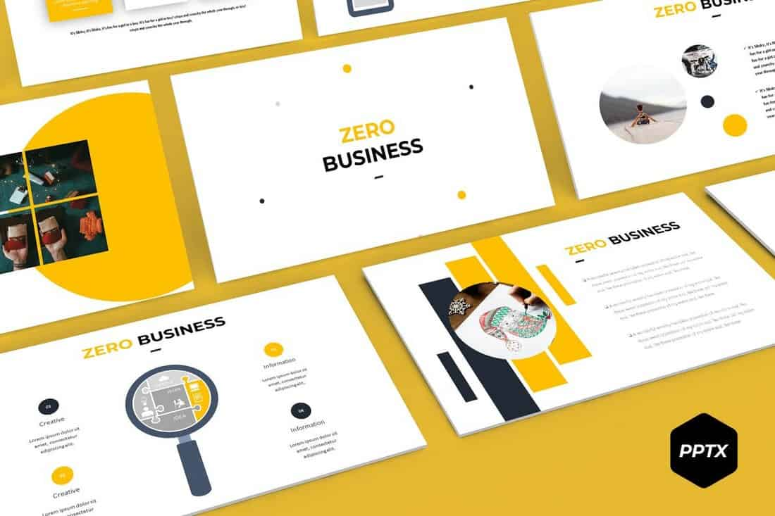 Zero - Creative Powerpoint Template