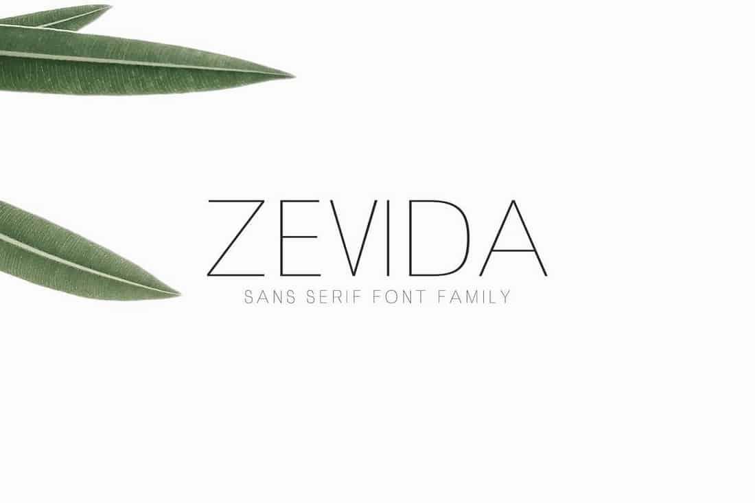 Zevida Sans Serif Font Family