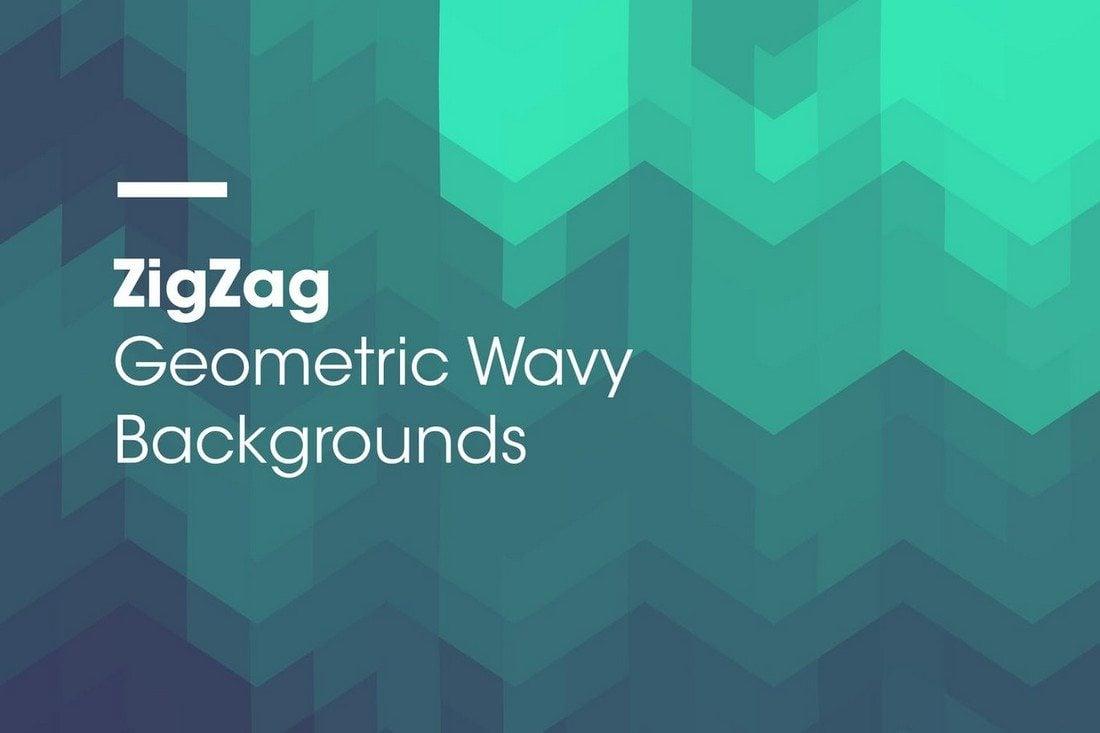 ZigZag-Geometric-Wavy-Backgrounds 20+ Beautiful Geometric & Polygon Background Textures design tips