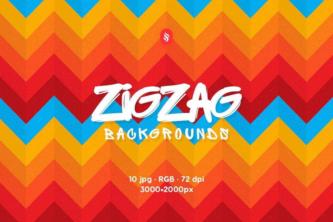 ZigZag Rainbow Backgrounds