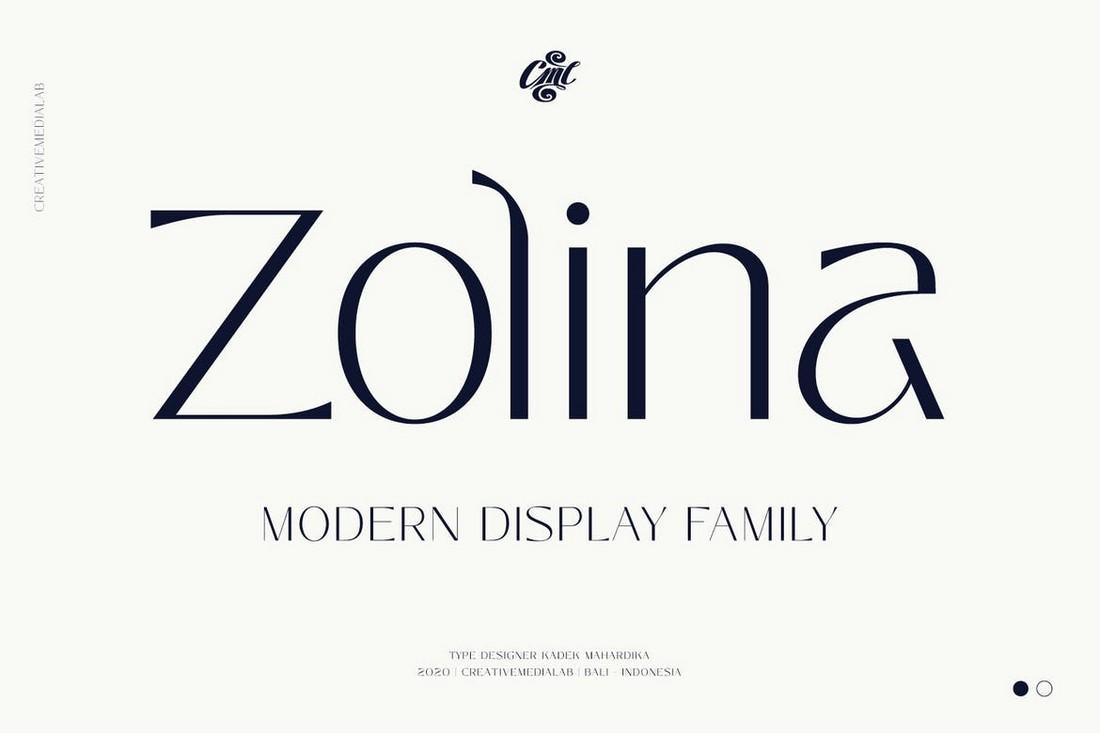 Zolina - Modern Business Font family