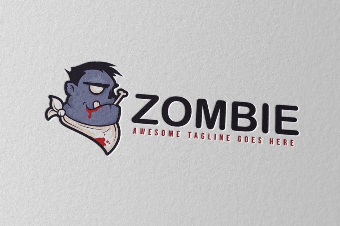 Zombie-Logo-Template 40+ Best Photoshop Logo Templates (PSD) design tips