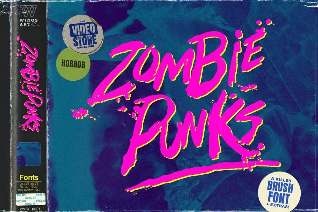 Zombie Punks - Retro Horror Font