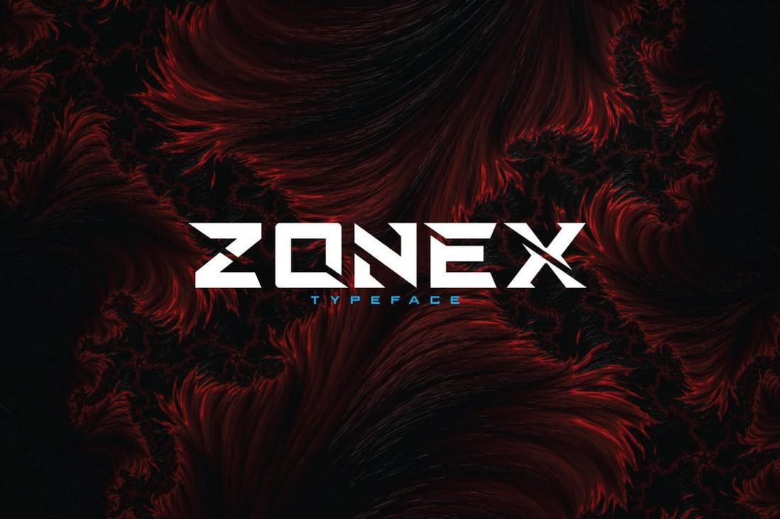 Zonex - Modern Logo Font