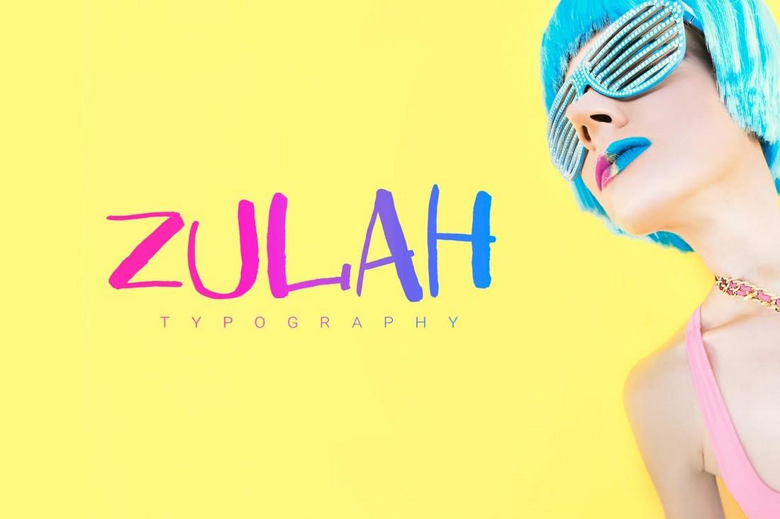 Zulah - Modern Playful Font