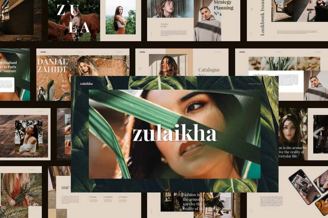 Zulaikha -Modern Fashion Google Slides Template