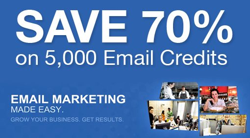 ... only you can snag 5,000 email credits for only $30, down from $100