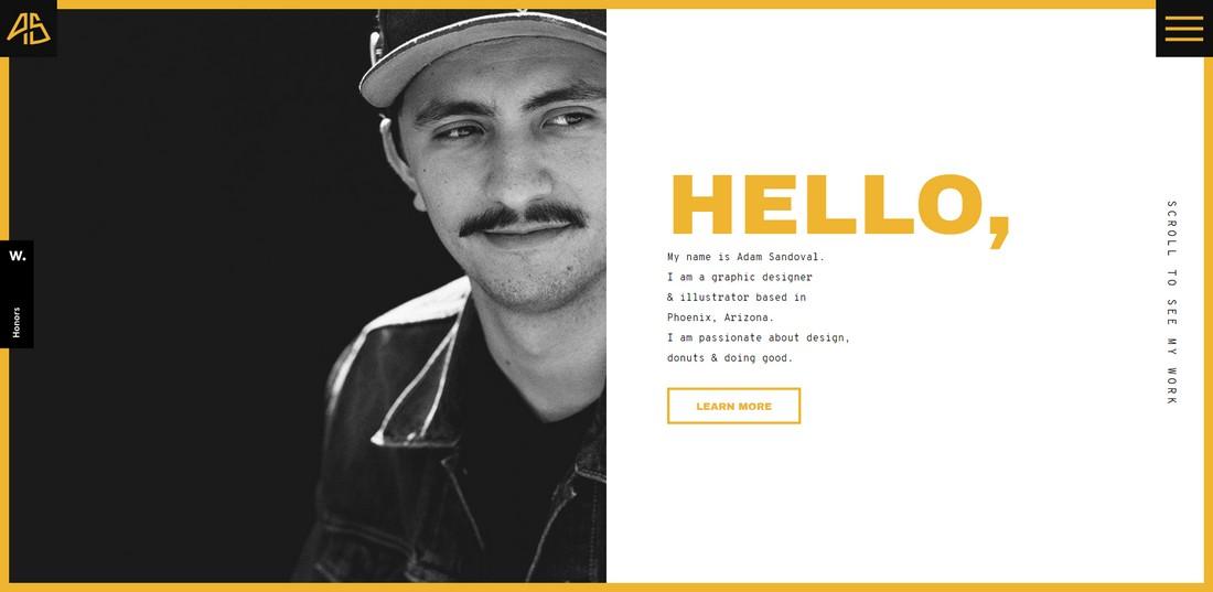 adamsandoval 10 Best Graphic Design Portfolio Examples + Templates design tips