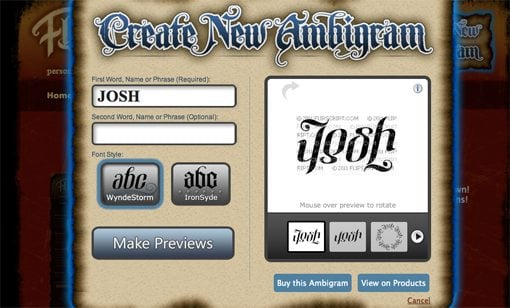 Design an Ambigram Logo With Your Name : Design Shack