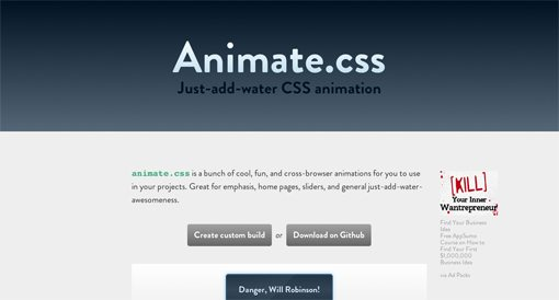 Animate css: Kick-Ass CSS Animations in Seconds Flat | Design Shack