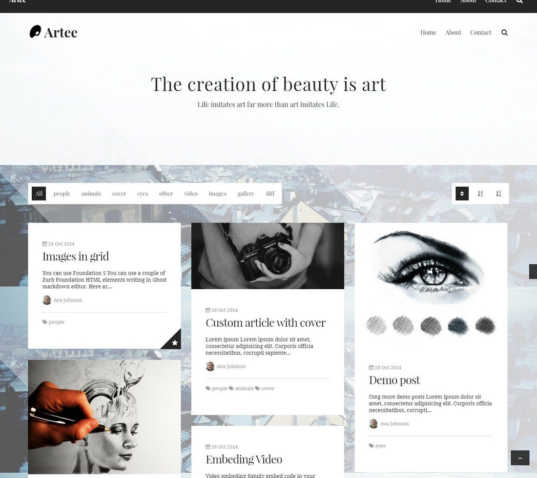 30 Beautifully Designed Ghost Themes 8