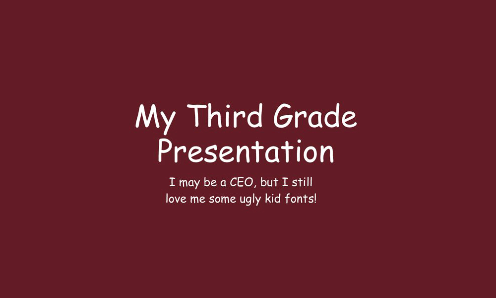 bad-font-choice How to Design a Professional PowerPoint Presentation design tips