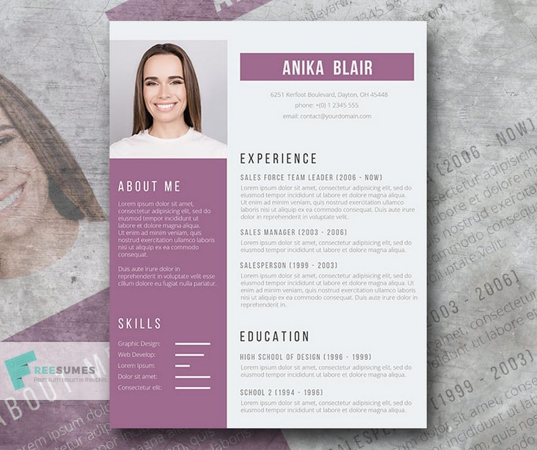 Freesumes Free Resumes Beautifully Designed  Design Shack