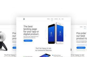 50+ Best App Landing Page Templates 2020