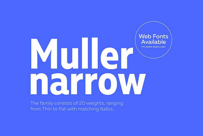 Condensed & Narrow Fonts