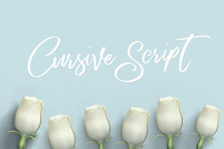 30+ Best Cursive & Script Fonts