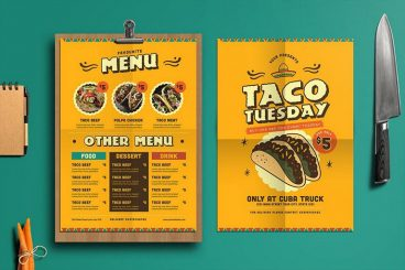 50+ Best Food & Drink Menu Templates