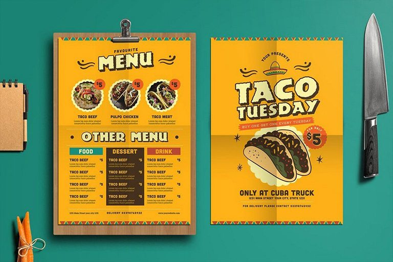 50 Best Food Drink Menu Templates