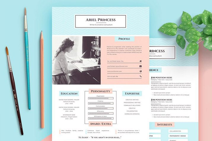 50  best cv  u0026 resume templates of 2019